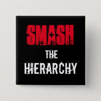 Smash the Hierarchy! 2 Inch Square Button
