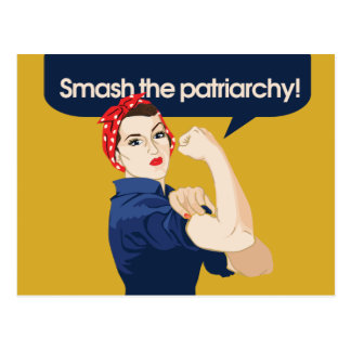Smash the Patriarchy Feminist Saying Postcard