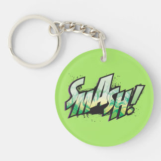 SMASH! Word Graphic Keychain