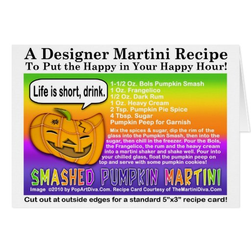 Smashed Pumpkin Halloween Martini Recipe Card