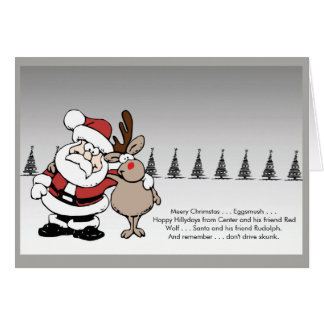 Smashed Santa and Friend Card