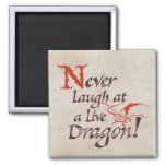 SMAUG™ - Never Laugh At A Live Dragon Square Magnet
