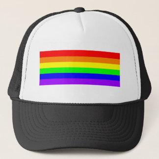 smcroppedPureGayPrideRainbow Trucker Hat