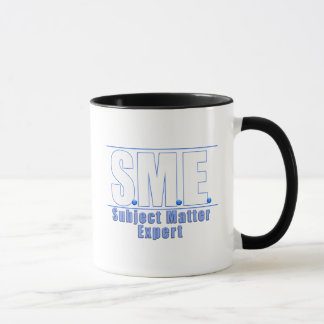 SME  LOGO SUBJECT MATTER EXPERT WHITE/BLUE MUG