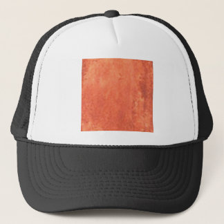 smear of orange trucker hat