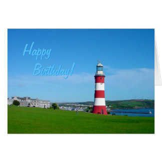 Smeaton's Tower, Plymouth Hoe birthday card