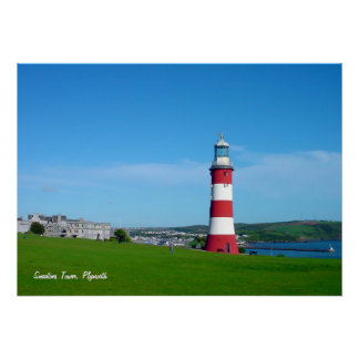 Smeaton's Tower, Plymouth Hoe poster print