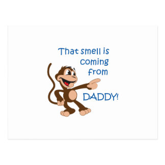 SMELL COMING FROM DADDY POSTCARD