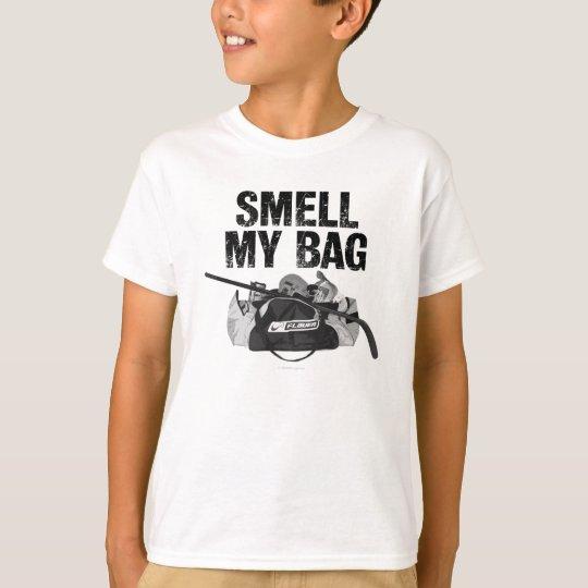 smell my bag hockey stench t shirt