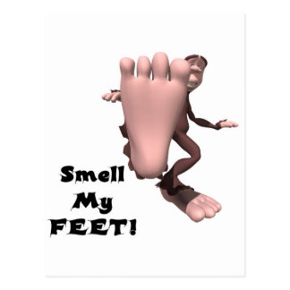 Smell My Feet Big Foot Monster Postcard