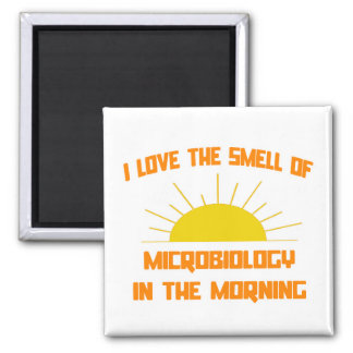 Smell of Microbiology in the Morning Square Magnet
