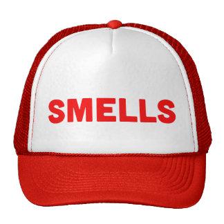 SMELLS funny slogan trucker hat