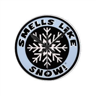 Smells Like Snow! Clock! Round Clock