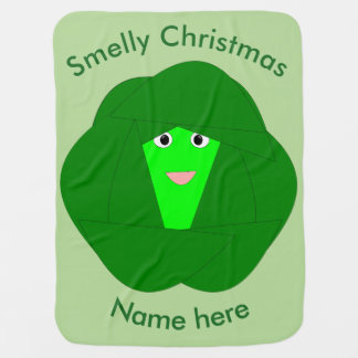 Smelly Christmas Brussels Sprout Baby Blanket