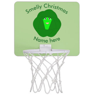 Smelly Christmas Brussels Sprout Basketball Hoop
