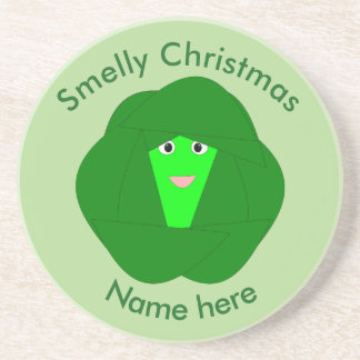 Smelly Christmas Brussels Sprout Coasters