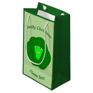 Smelly Christmas Brussels Sprout Custom Gift Bag