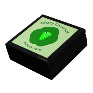 Smelly Christmas Brussels Sprout Custom Gift Box