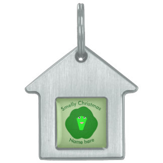 Smelly Christmas Brussels Sprout Custom Pet Tag