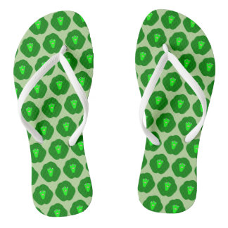 Smelly Christmas Brussels Sprout Flip Flops