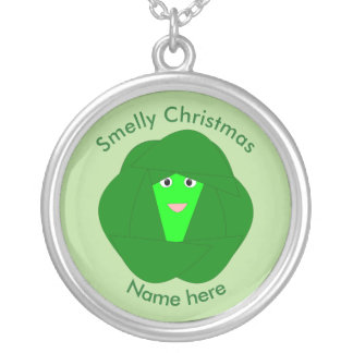 Smelly Christmas Brussels Sprout Necklace