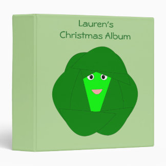 Smelly Christmas Brussels Sprout Photograph Album Vinyl Binder