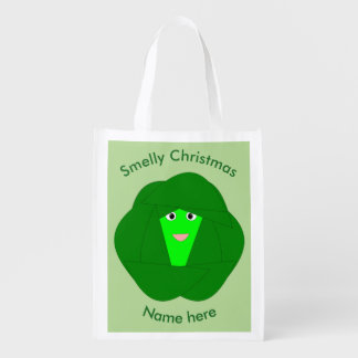 Smelly Christmas Brussels Sprout Reusable Bag
