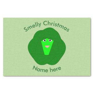 Smelly Christmas Brussels Sprout Tissue Paper
