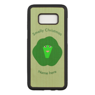 Smelly Christmas Brussels Sprout Wooden Phone Case
