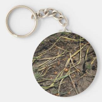 Smelly Onion Crop in the Field Basic Round Button Keychain
