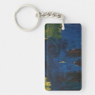 "Smeraldo Gallery ""Starry Night interpretation"" Single-Sided Rectangular Acrylic Keychain"