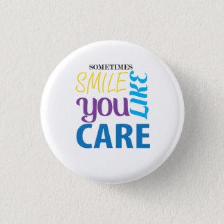 Smile 101 1 inch round button