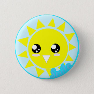Smile 2 Inch Round Button