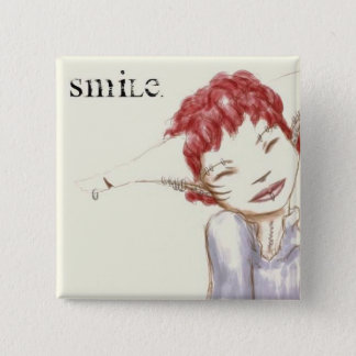 Smile 2 Inch Square Button