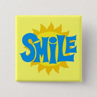 Smile 2 Inch Square Button