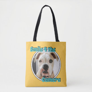 Smile 4 The Camera All Over Print Tote Bag