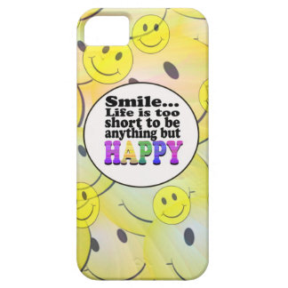 Smile and be Happy iPhone 5 Cover