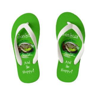Smile and Be Hoppy Kid's Flip Flops