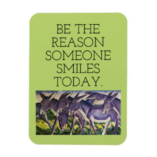 smile and donkeys rectangular photo magnet