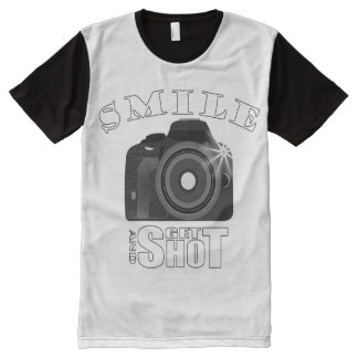 Smile and Get Shot Photography Humor Sarcasim