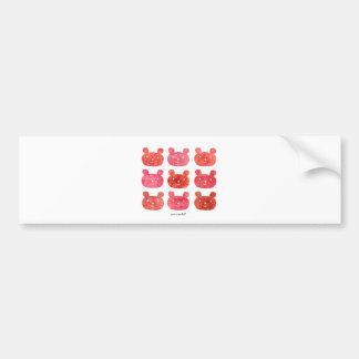 smile bear red bumper sticker