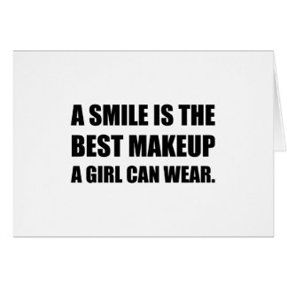 Smile Best Makeup Card