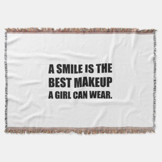 Smile Best Makeup Throw Blanket