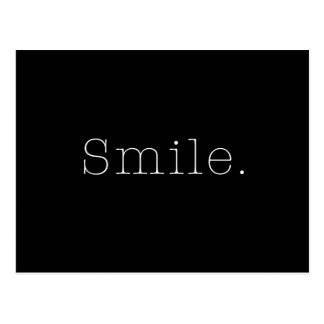 Smile. Black And White Smile Quote Template Postcard