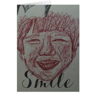 Smile Boy Artistic Sketch Card