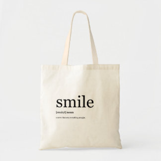 Smile Budget Tote