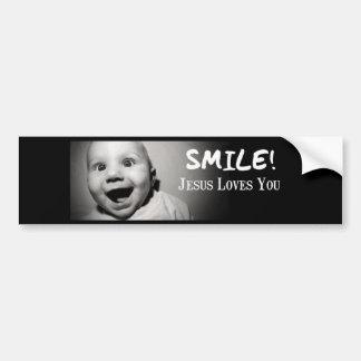 SMILE! BUMPER STICKER