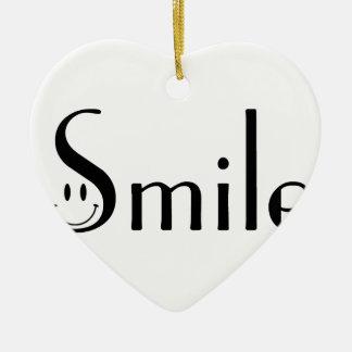 Smile Ceramic Heart Ornament