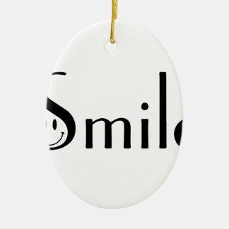 Smile Ceramic Oval Ornament
