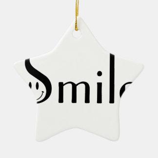 Smile Ceramic Star Ornament